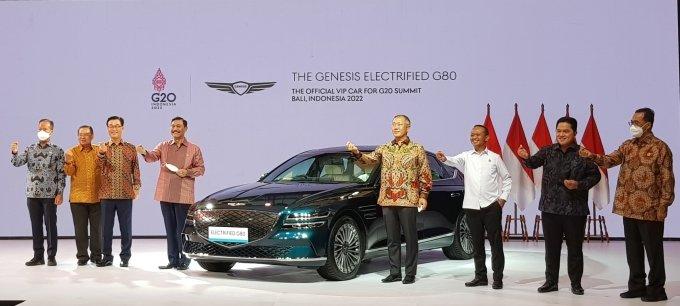세계가 선택한 'G80 전기차'… 내년 'G20 발리 정상회의' VIP 의전차 선정
