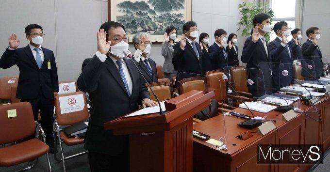 [머니S포토] 청와대 국감 '대장동 의혹' 등 여야 공방