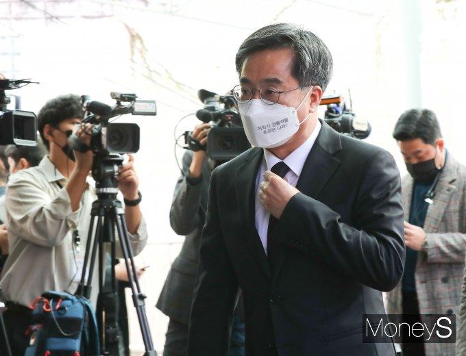 [머니S포토] 노태우 전 대통령 빈소 찾은 김동연