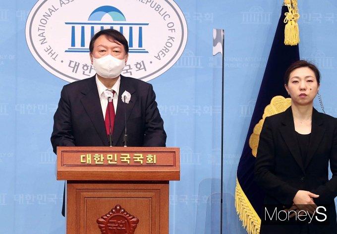 [머니S포토] 대국민 지지를 호소하는 윤석열 대선 경선 후보