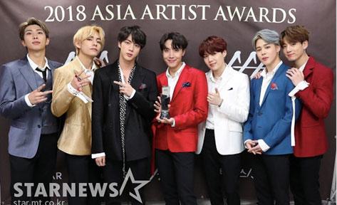 2018 ASIA ARTIST AWARDS BTS