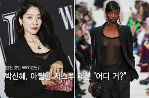 """""""걸친 것만 5500만원?"""" 박신혜, 아찔한 시스루 패션 '깜짝'"""
