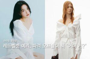 """어깨 드러낸 레드벨벳 예리, 아찔한 오프숄더룩…""""어디 거?"""""""