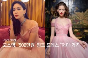 """고소영, 볼륨감 드러낸 '506만원' 핑크 드레스…""""어디 거?"""""""