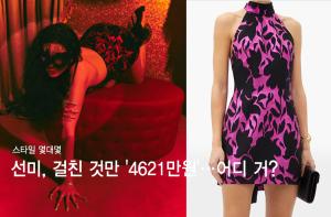 """선미, 걸친 것만 '4621만원'…관능적인 패션 """"어디 거?"""""""