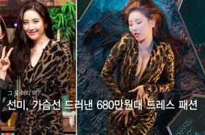 """선미, 가슴선 드러낸 '680만원대' 밀착 드레스…""""어디 거?"""""""