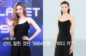 """선미, 걸친 것만 '5664만원'…초호화 드레스 룩 """"어디 거?"""""""