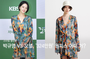 박규영 VS 모델, '324만원' 패턴 원피스 룩…어디 거?