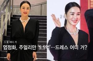 """엄정화, 걸친 주얼리만 '5.5억'…아찔한 드레스 룩 """"어디 거?"""""""