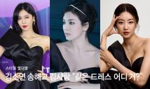 """김소연 송혜교 김사랑, """"같은 드레스 입었네…어디 거?"""""""