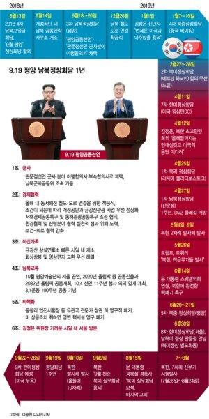 [인포그래픽]9.19 평양 남북정상회담 후 파란만장 1년