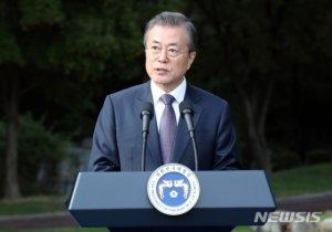 """文 """"평화, 마지막 고비…비핵화의 벽은 대화만이 무너뜨려"""""""