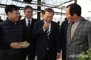 """마하티르가 반했던 韓 딸기, 文 """"마저 맛보자""""며 돌아와"""