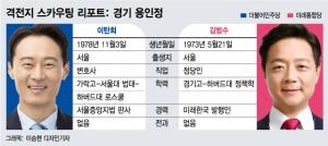 [경기 용인정]40대 정치신인, '국회 입성' 두고 맞붙다