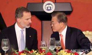 """스페인국왕 """"文대통령, 리더십을 최고의 성과로 증명했다"""""""