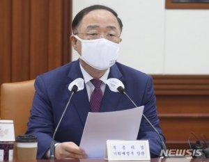"""野 """"정치 뜻 있나"""" vs 홍남기 """"없다""""…'재정준칙' 신경전"""