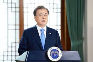 """文대통령 """"韓, 연대·협력으로 봉쇄없이 방역·경제 지켜"""""""