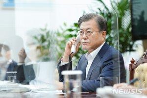 """文대통령, 오늘만 정상통화 3번 강행군 """"유명희, WTO 개혁 최적임자"""""""