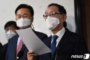"""국민의힘, '법사위 보이콧'…""""윤호중 위원장, 사과하라"""""""
