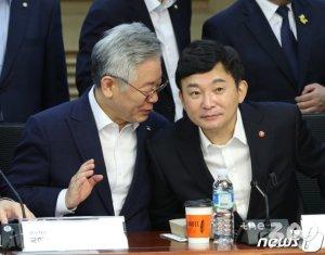 """불붙는 논쟁…원희룡, 이재명에 """"집단자살? 토론 아닌 협박"""""""