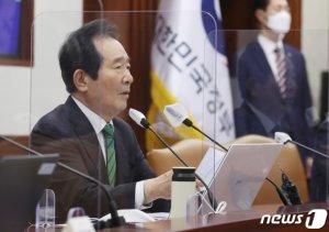 """'경제·방역' 정세균, 대선행보 힘받나…""""낡은 이념 투쟁 끝내야"""""""