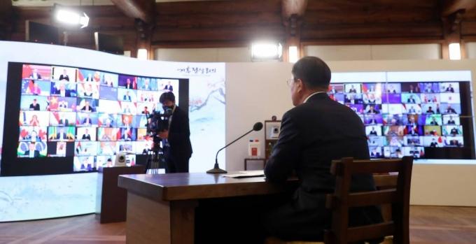 文, 25일 '韓·SICA 정상회의' 화상 참석…