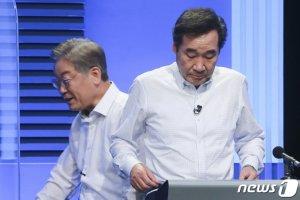 """이재명 """"국민소환제 의지 없다"""" vs 이낙연 """"법안처리만 422건"""""""