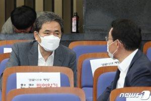 """野 초선 6인 """"곽상도, 의원직 사퇴하고 수사받아라"""""""