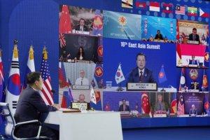 """文 """"종전선언, 세계평화 출발점""""…바이든 """"한반도비핵화 노력"""""""