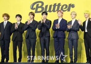 방탄소년단 'Butter' 빌보드 핫100 1위 복귀 '역주행'