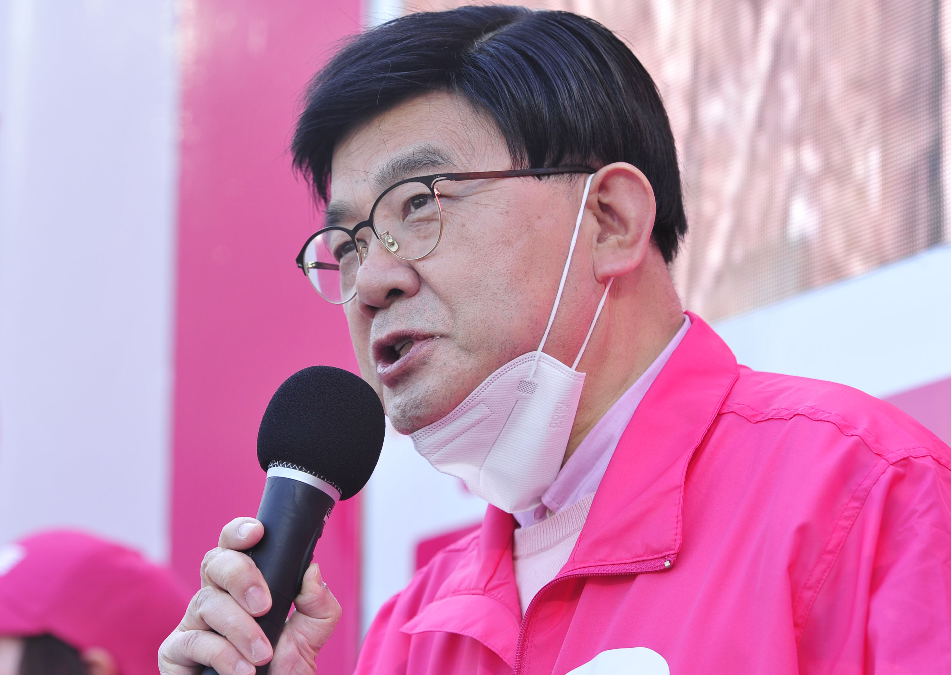 마포을 김성동 후보 '바꾸자 마포!'