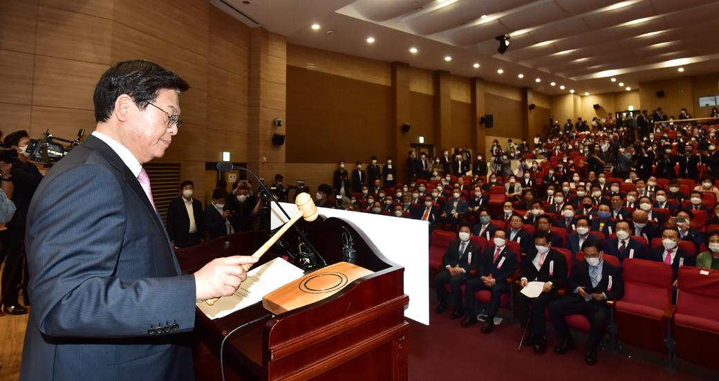 통합당 전국위, '김종인 비대위·한국당 합당안' 의결