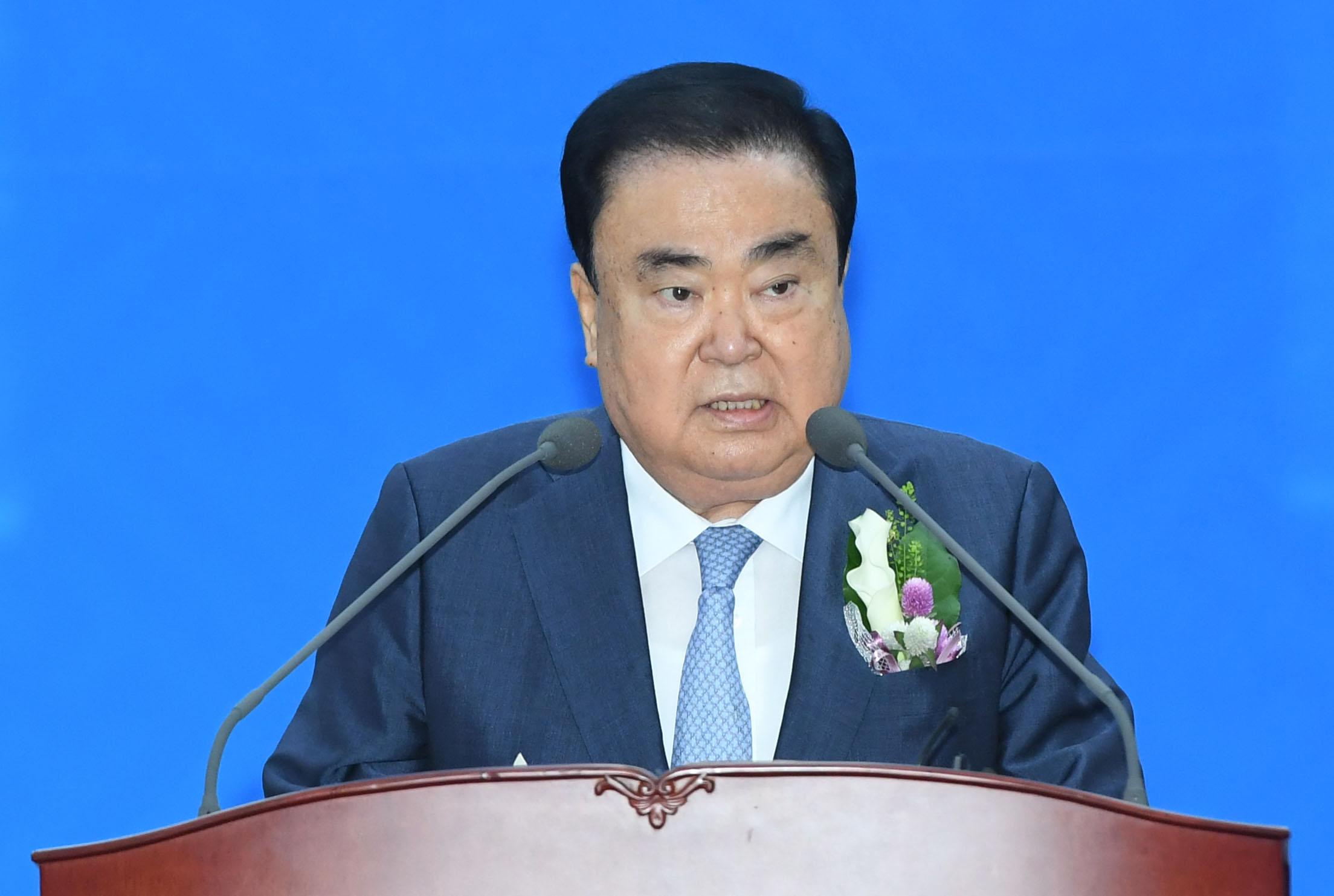 """문희상 """"협치와 국민통합으로 K의회 열어 달라"""""""