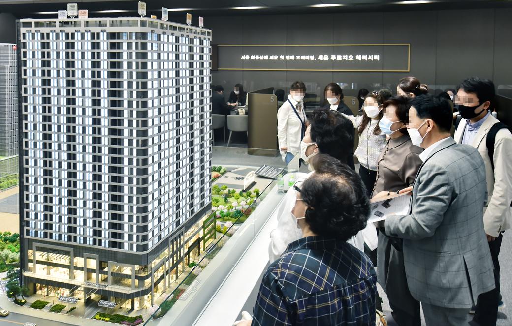 서울 청계천 세운지구 14년만에 '첫' 분양, 견본주택 오픈