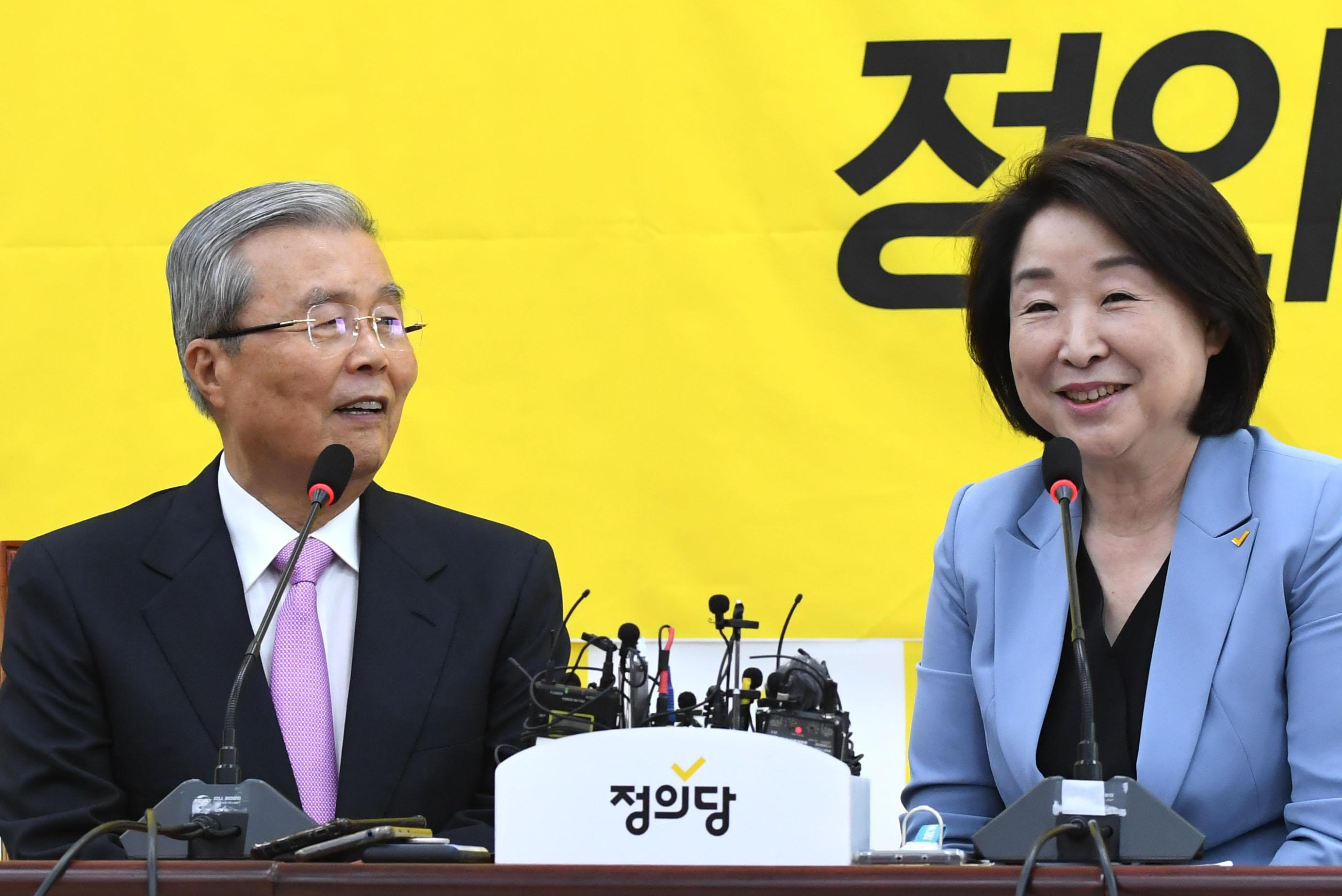 김종인·심상정, '기본소득 노조·불평등 문제 공감대'