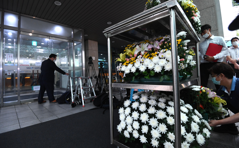 故 박원순 시장 빈소 준비로 분주한 장례식장
