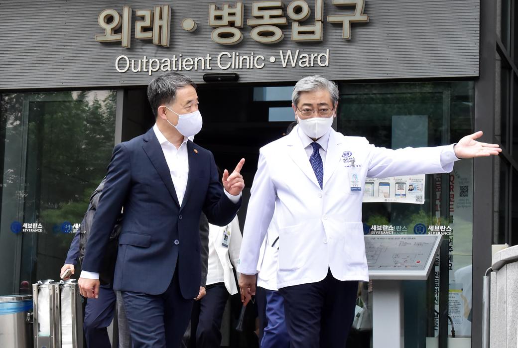 '의료계 집단 휴진' 보건당국, 수련병원 진료 상황 점검
