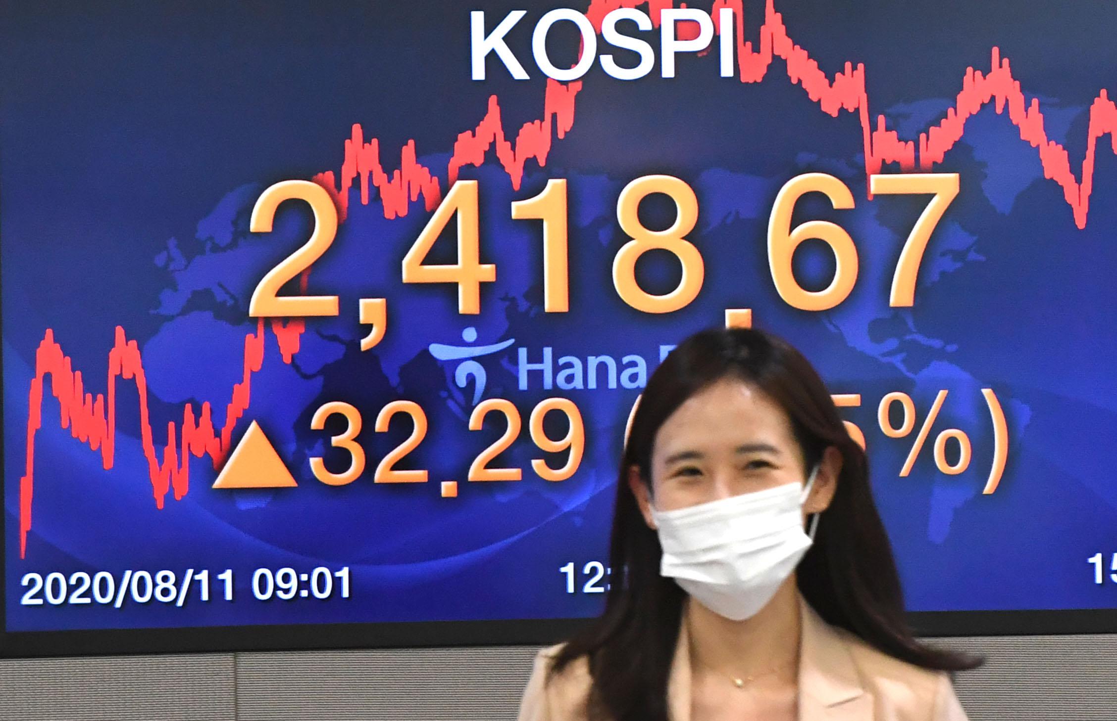 코스피 1% 상승 마감…'2410선 돌파'