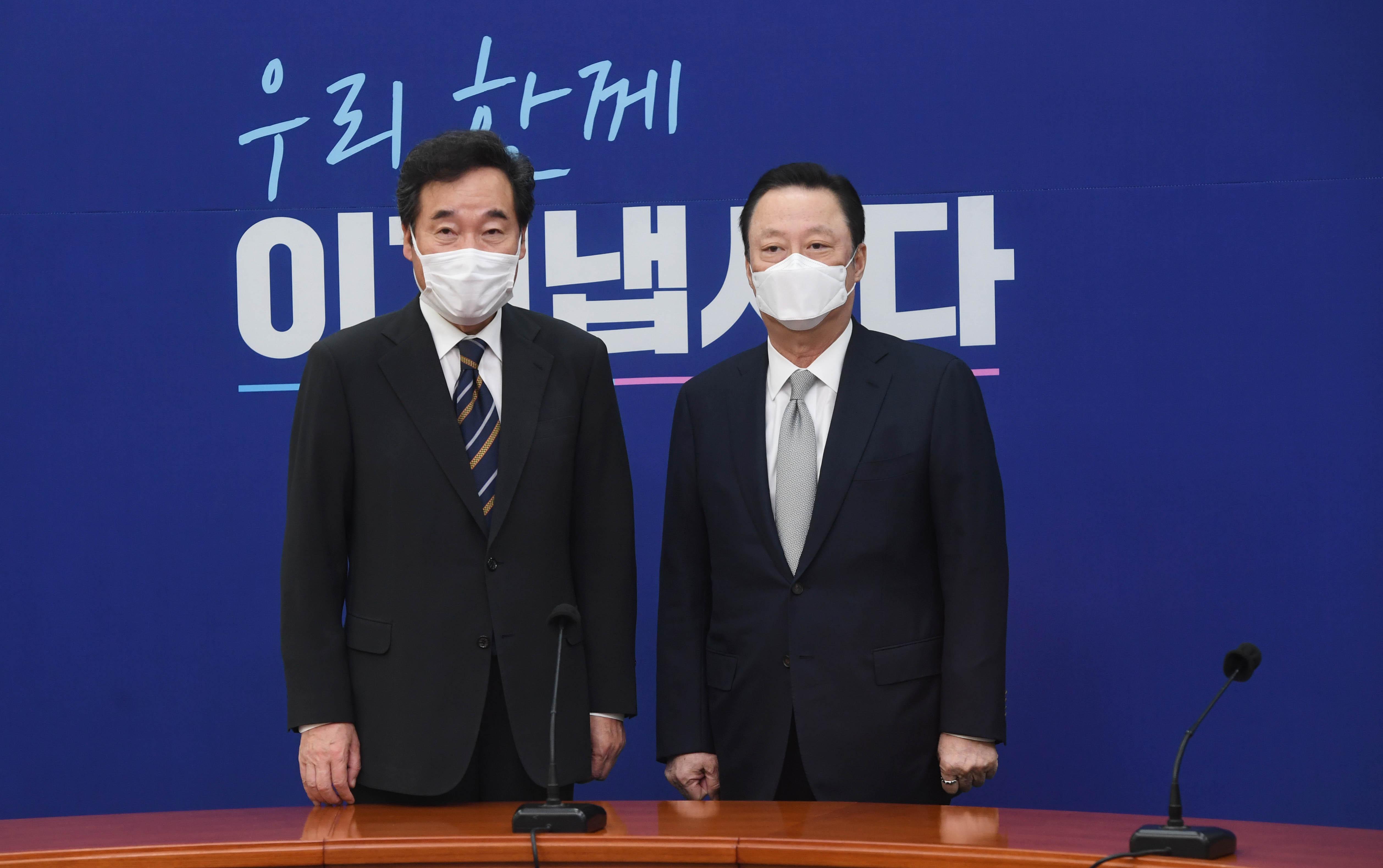 '기업규제 3법 반대' 이낙연 대표 만난 박용만 회장