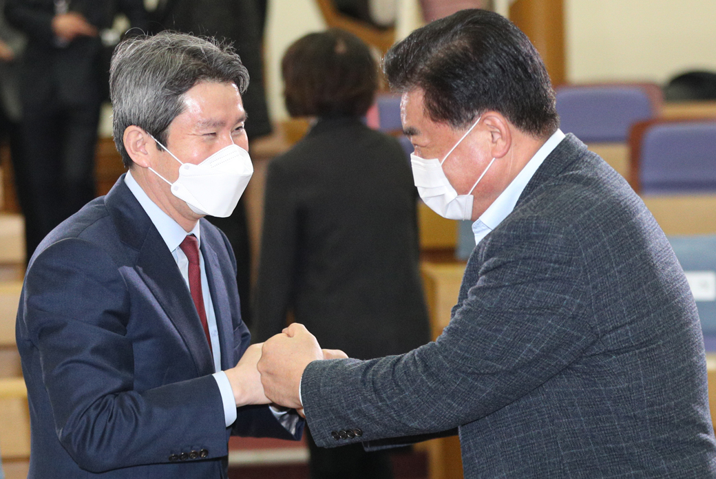 """이인영 """"'남북관계' 평화와 미래·번영 만들기 다시 나아가야"""""""