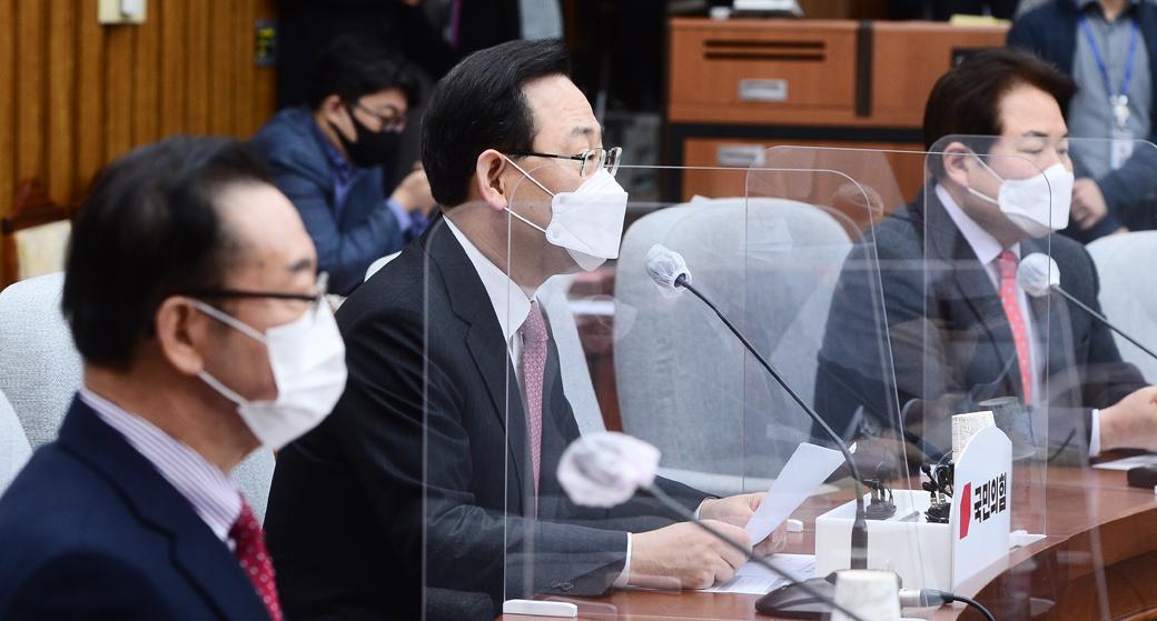 """주호영 """"與, 공수처법 비롯해 법 강행처리하려는 움직임 있어"""""""