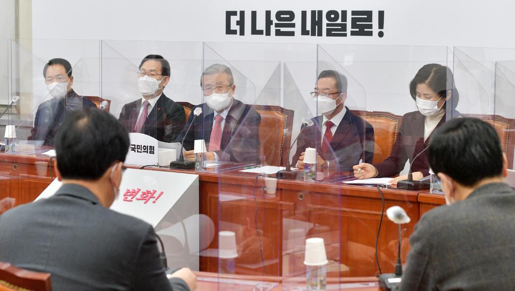 """김종인 """"3차 재난지원금, 소상공·자영업자 손실보전 역부족"""""""