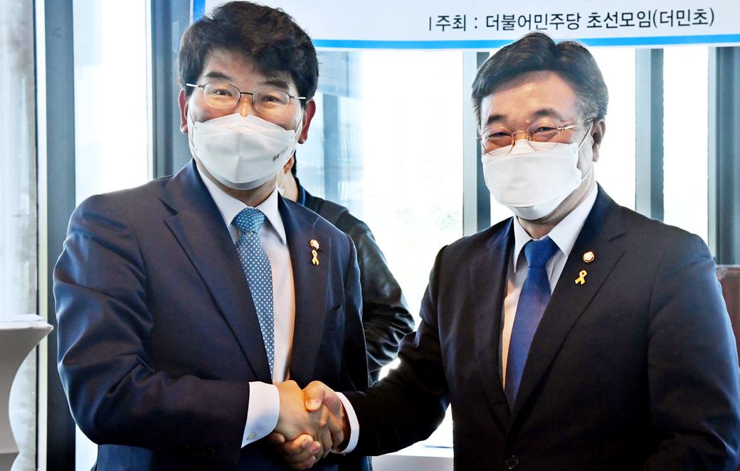 윤호중·박완주 2파전…더민초 주최 '원내대표 후보자' 초청, 토론
