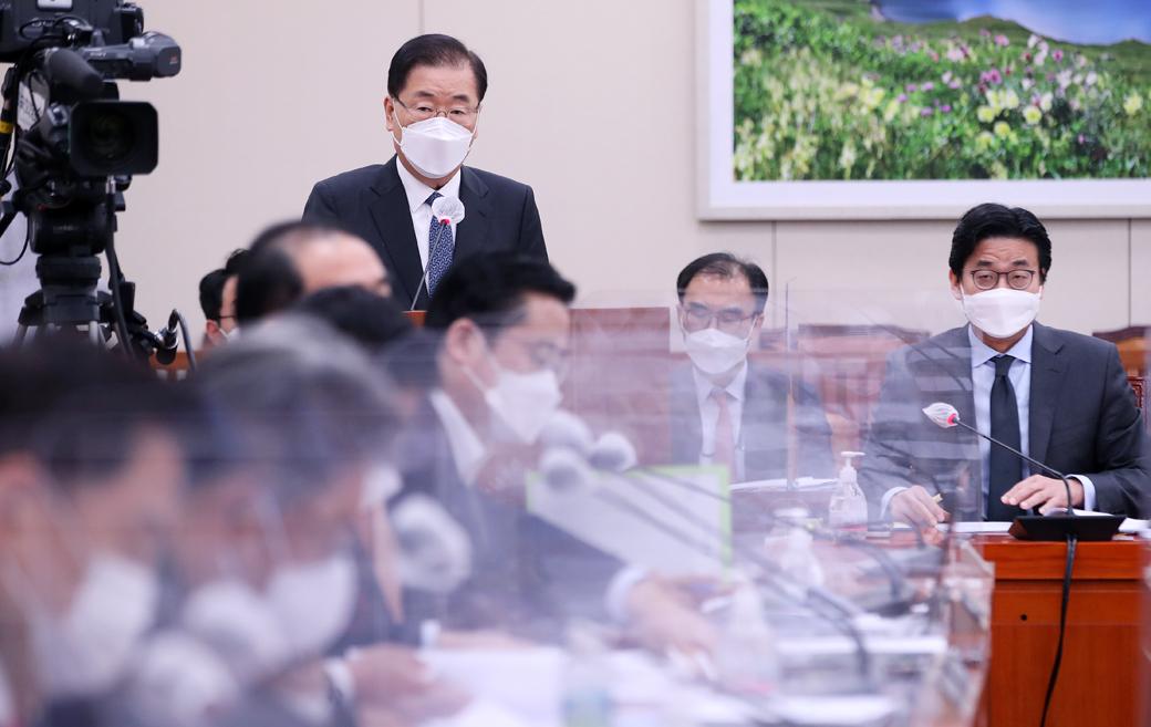 """외교부 정의용 """"日 '원전 오염수' 방출, 필요시 사법 대응 검토"""""""