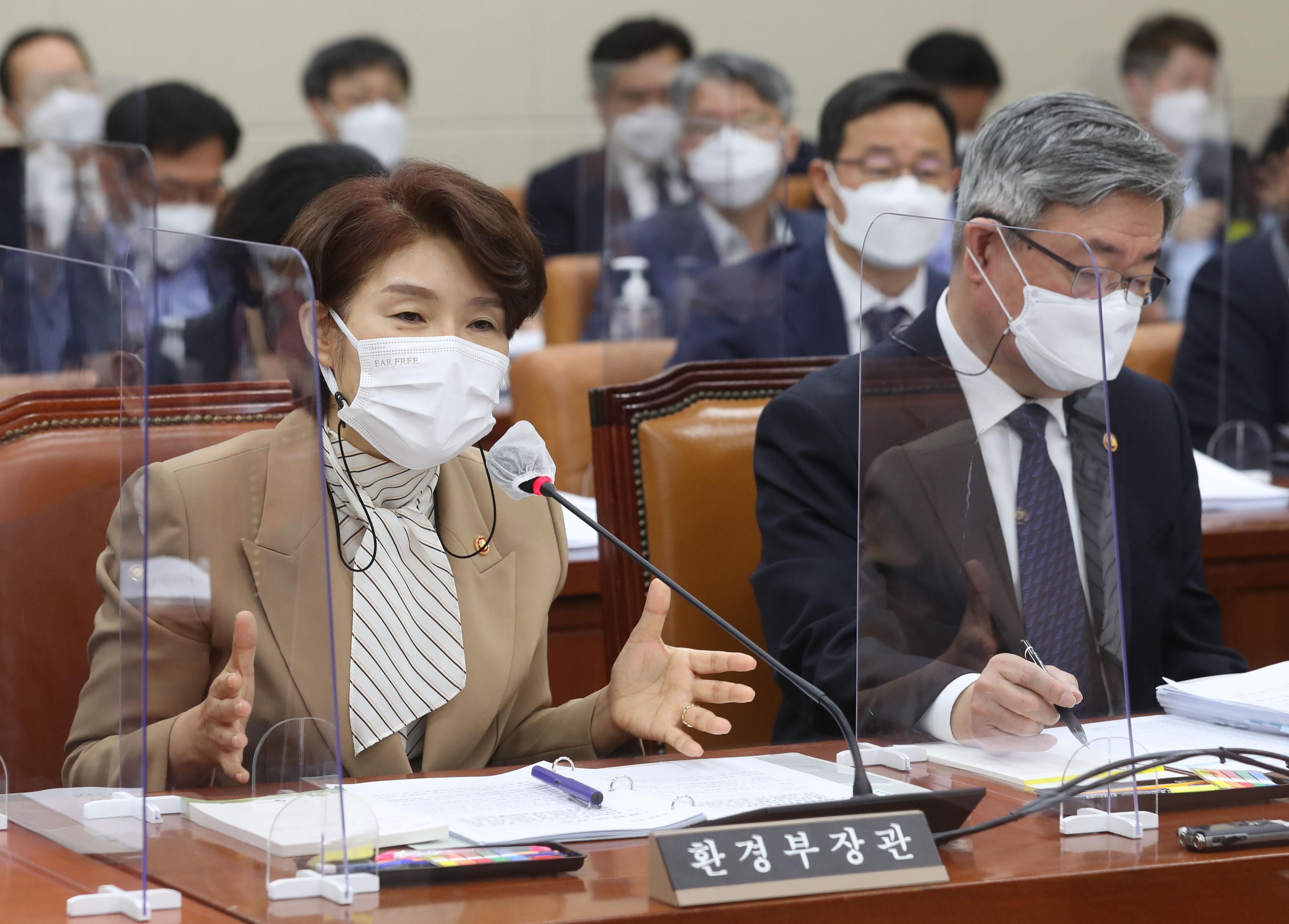 """한정애 """"정부, 후쿠시마 오염수 방류 착실하게 대비"""""""