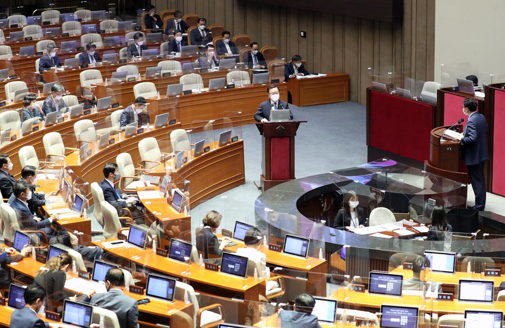 김부겸 총리, 日 올림픽 독도 논란·백신접종 등 대정부 질문