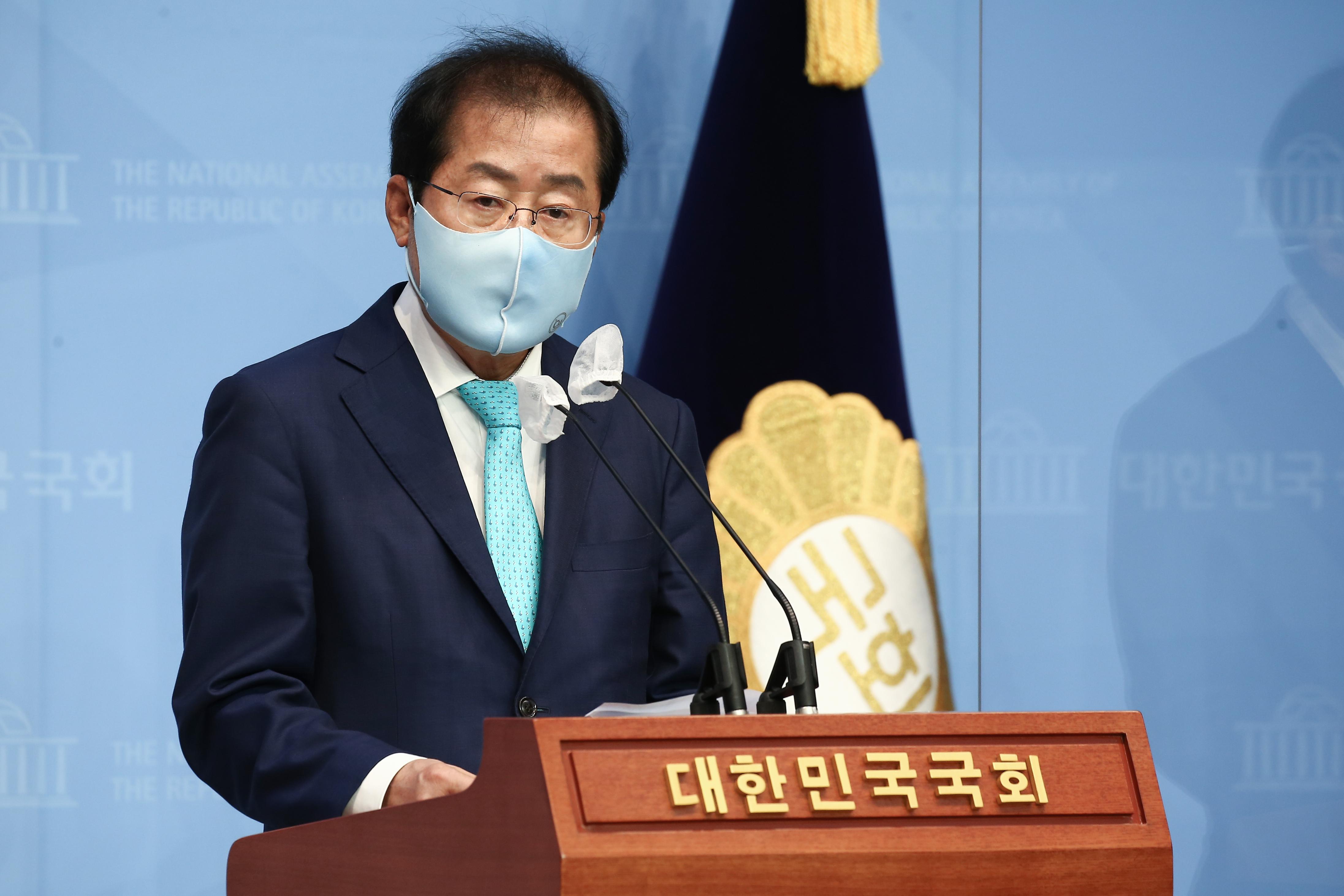 """국민의힘 복당 홍준표 """"정권교체 위한 밀알 될 것"""""""