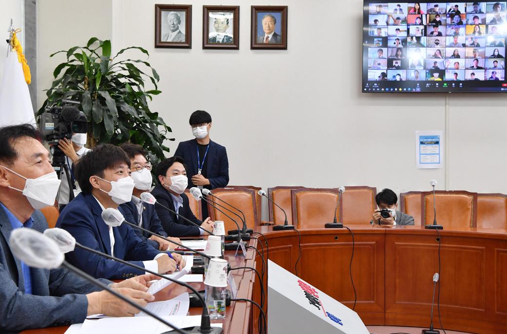 국민의힘 이준석, 화상으로 만난 美·日 유학생과 '진솔' 대화