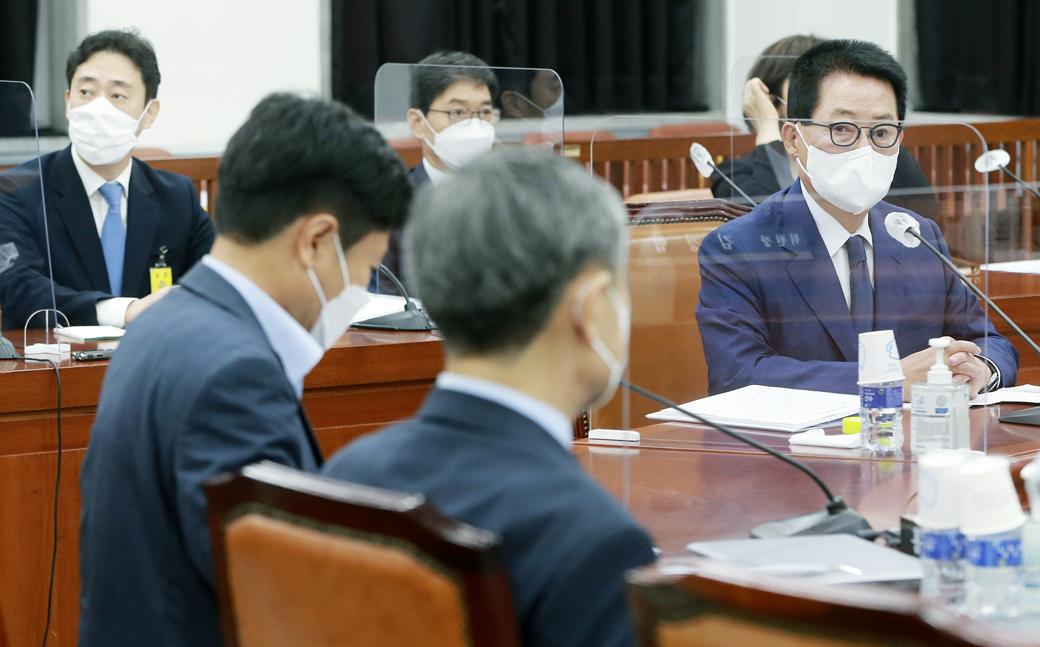국회 정보위 박지원, 北 동향 국정원 현안보고